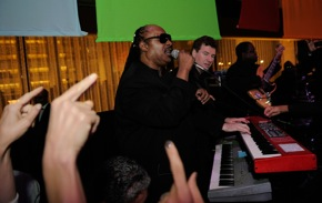 Click to see the Stingers w/ Stevie Wonder @ Paul Newman's Hole in the Wall Gang After Party